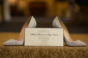 invitation on shoes