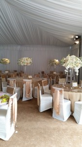 tent wedding tables