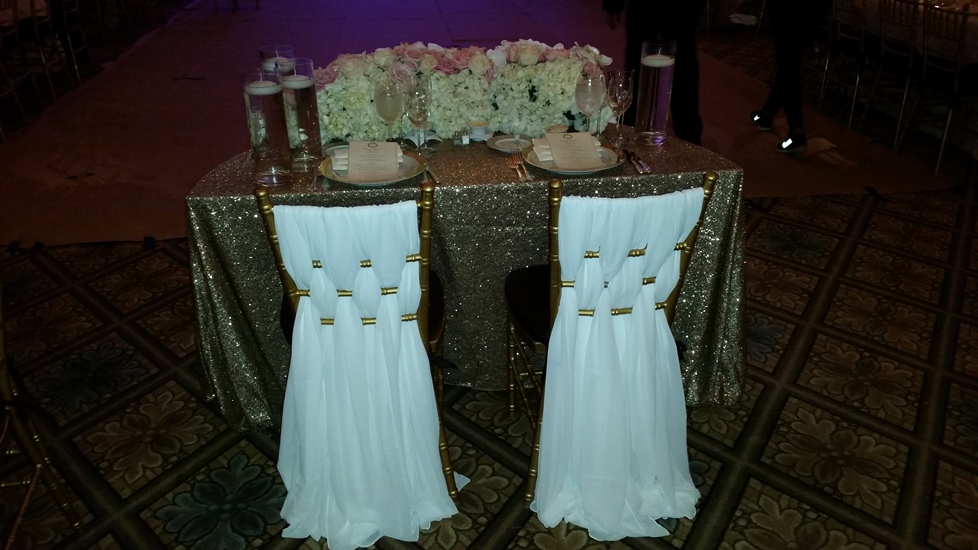 Bride and Groom Linens at The Plaza