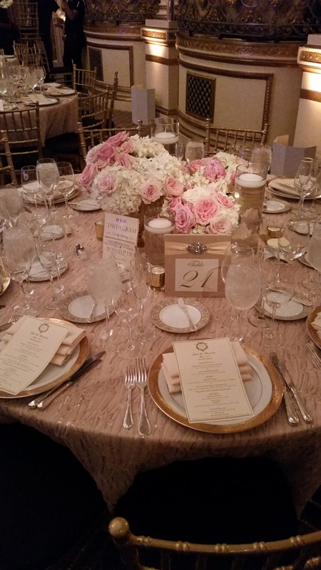 Table Setting at the Plaza