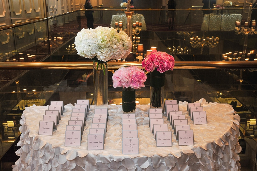 communion place card table