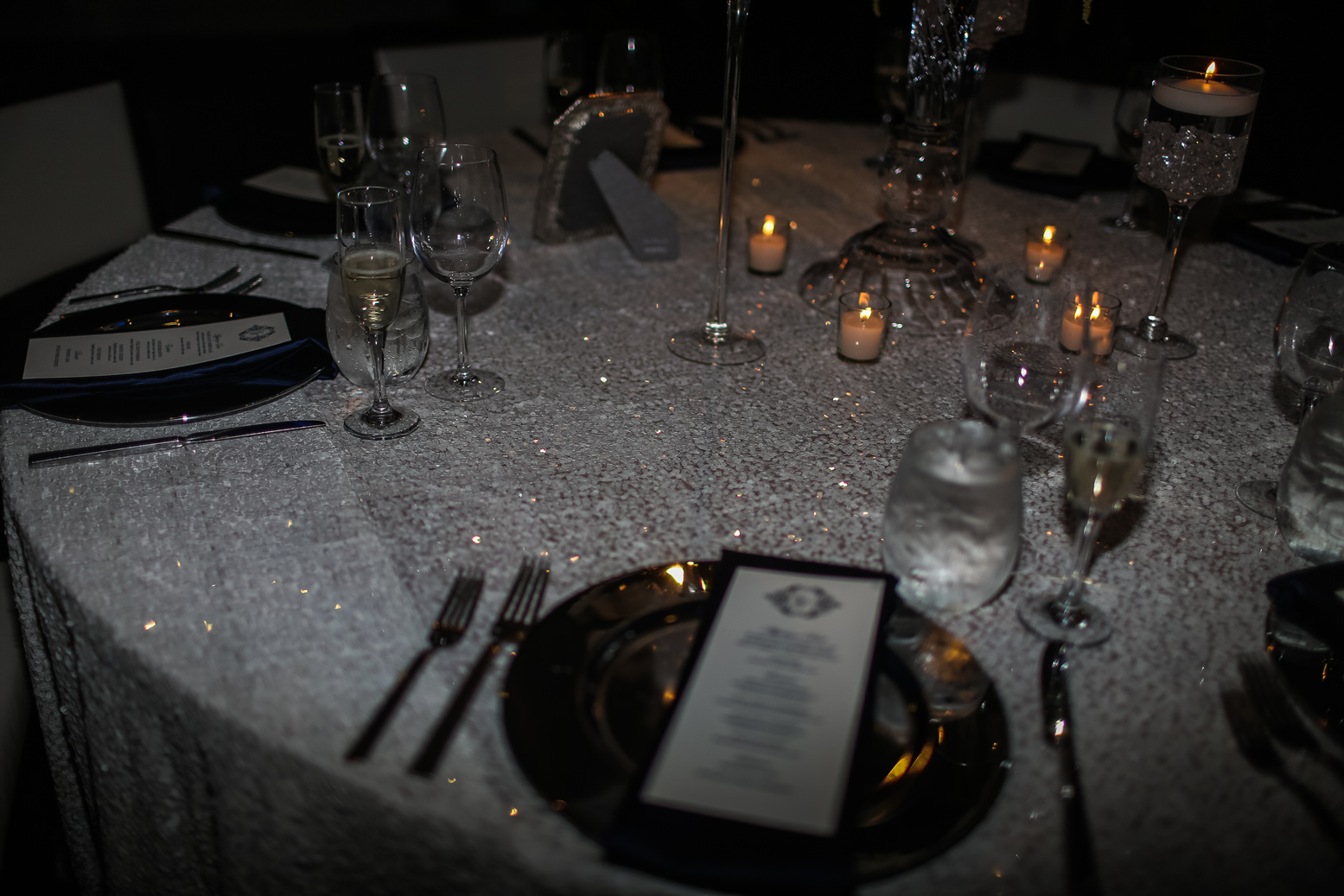 Candlelit Table Setting Harbor Club at Prime