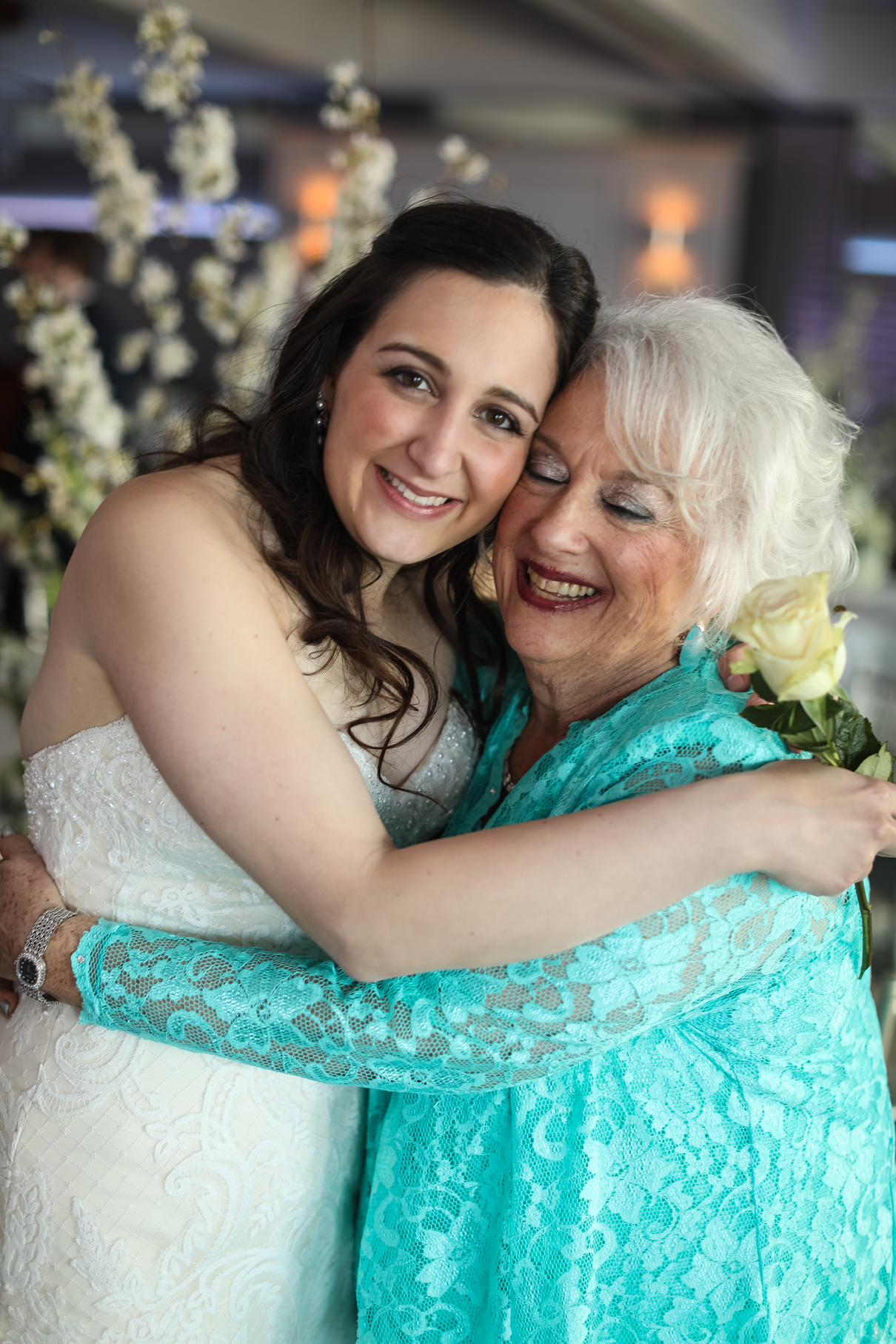 bride and grandmother Crescent Beach Club