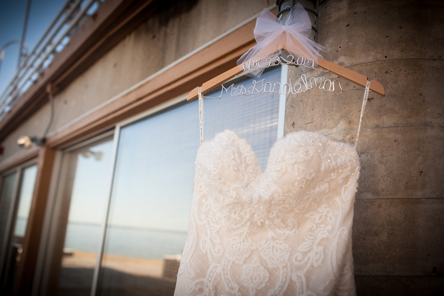 dress hanging on personalized hanger crescent beach club