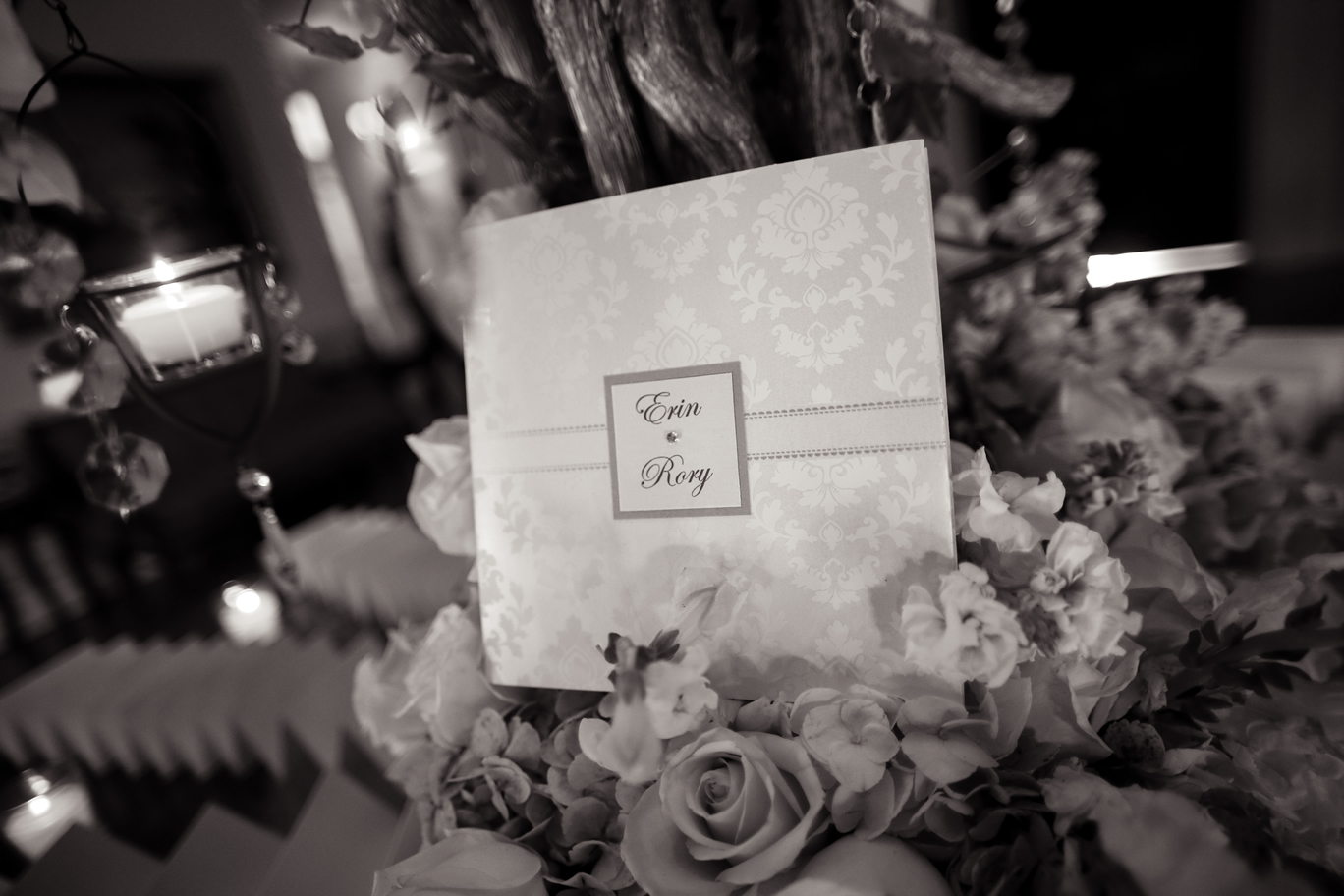invitation in flowers