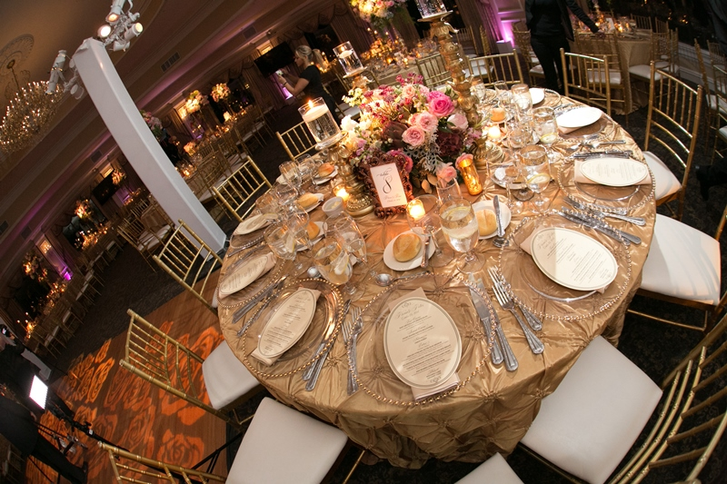 table setting at oheka