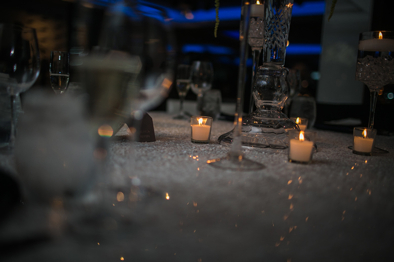 Candles on Table Harbor Club at Prime