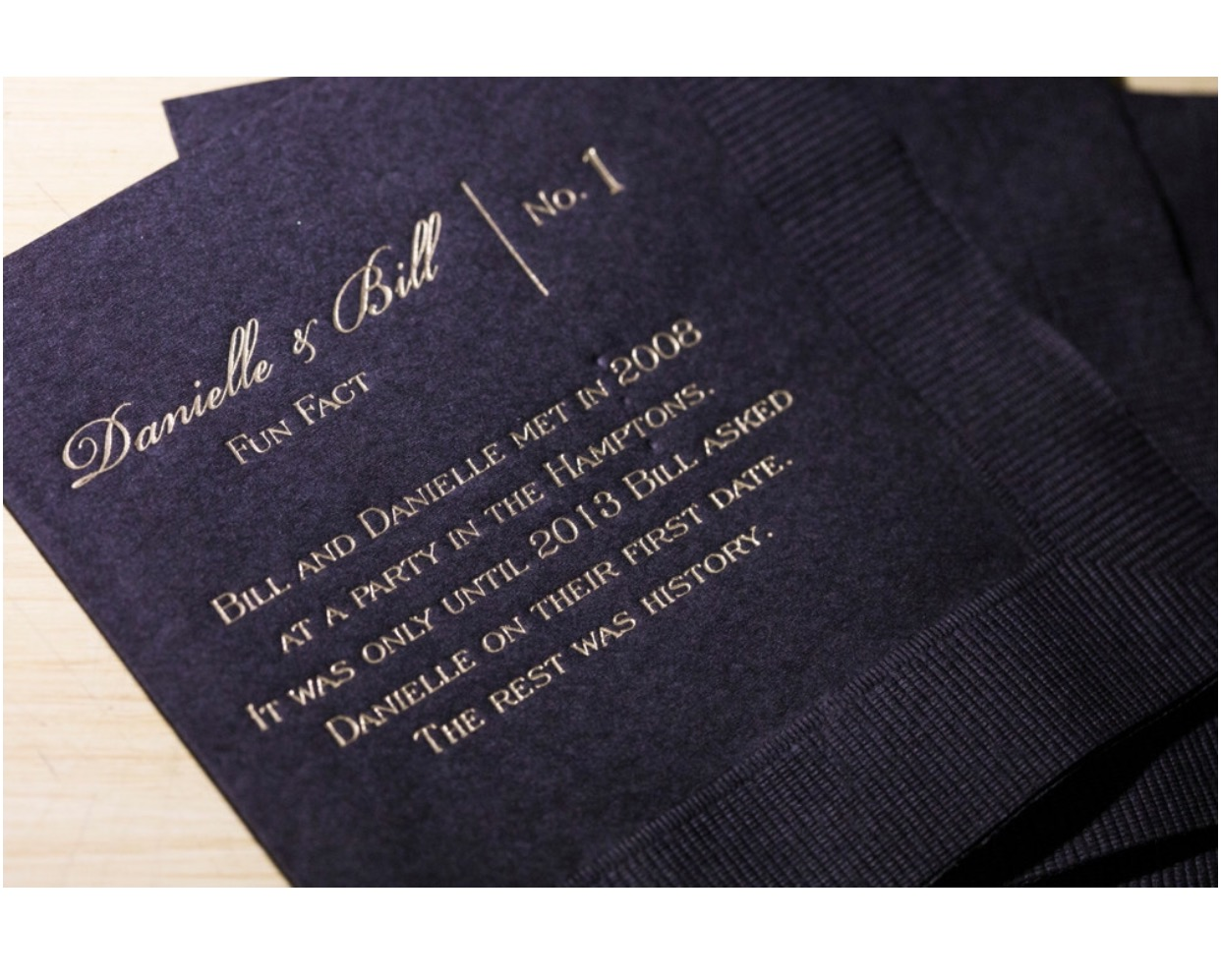 Fun Fact Napkins Black and Gold (2)
