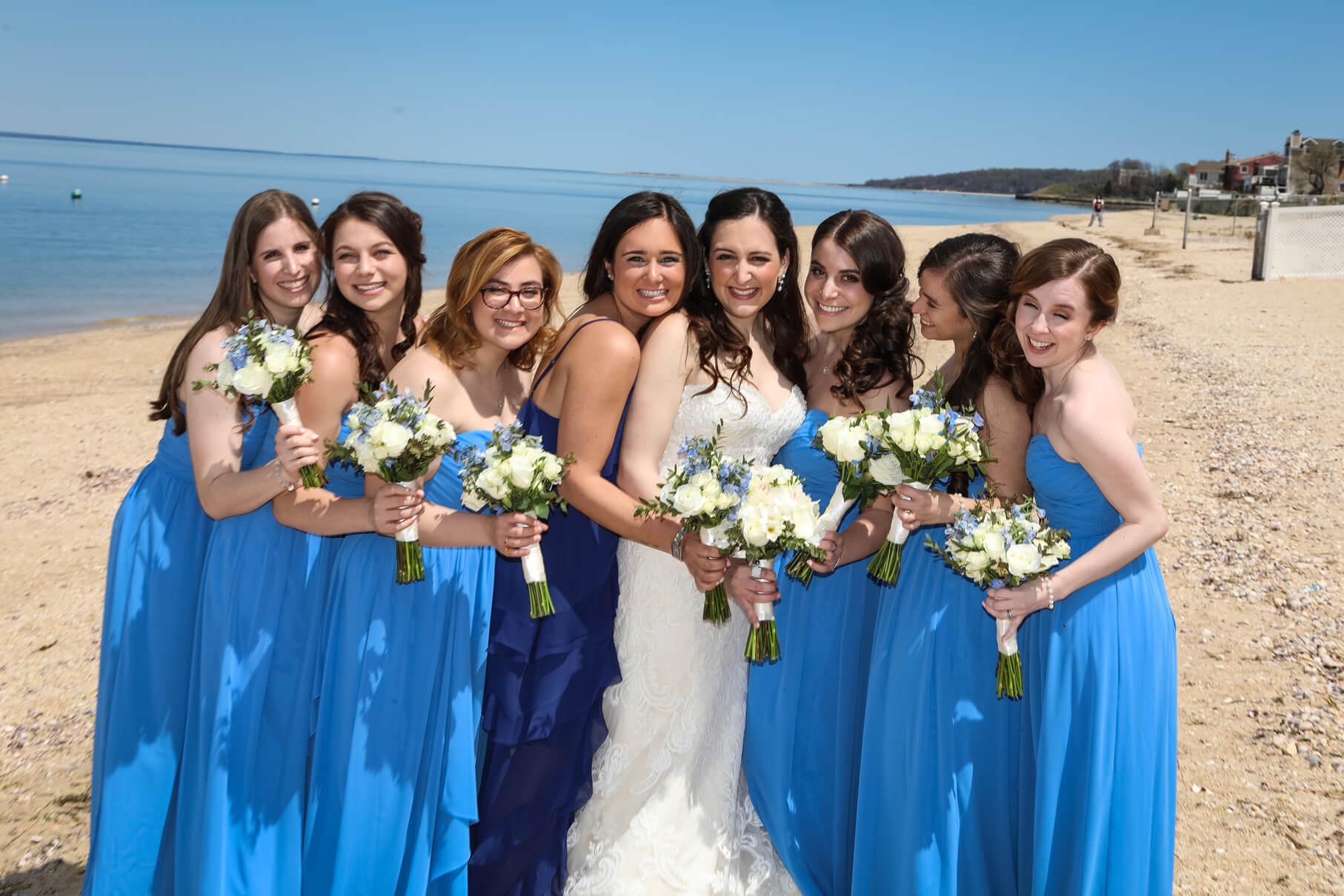 bride and bridesmaids crescent beach club (2)