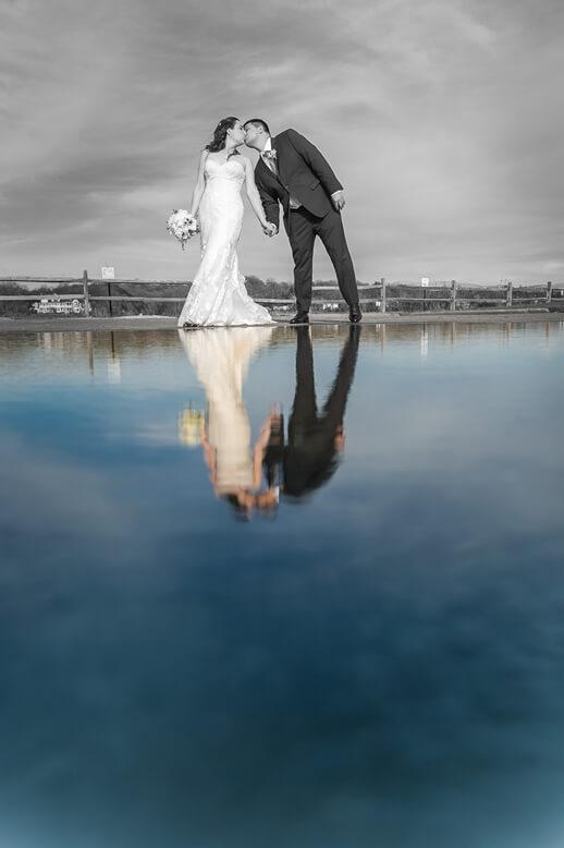 bride and groom on Beach Crescent Beach Club (2)