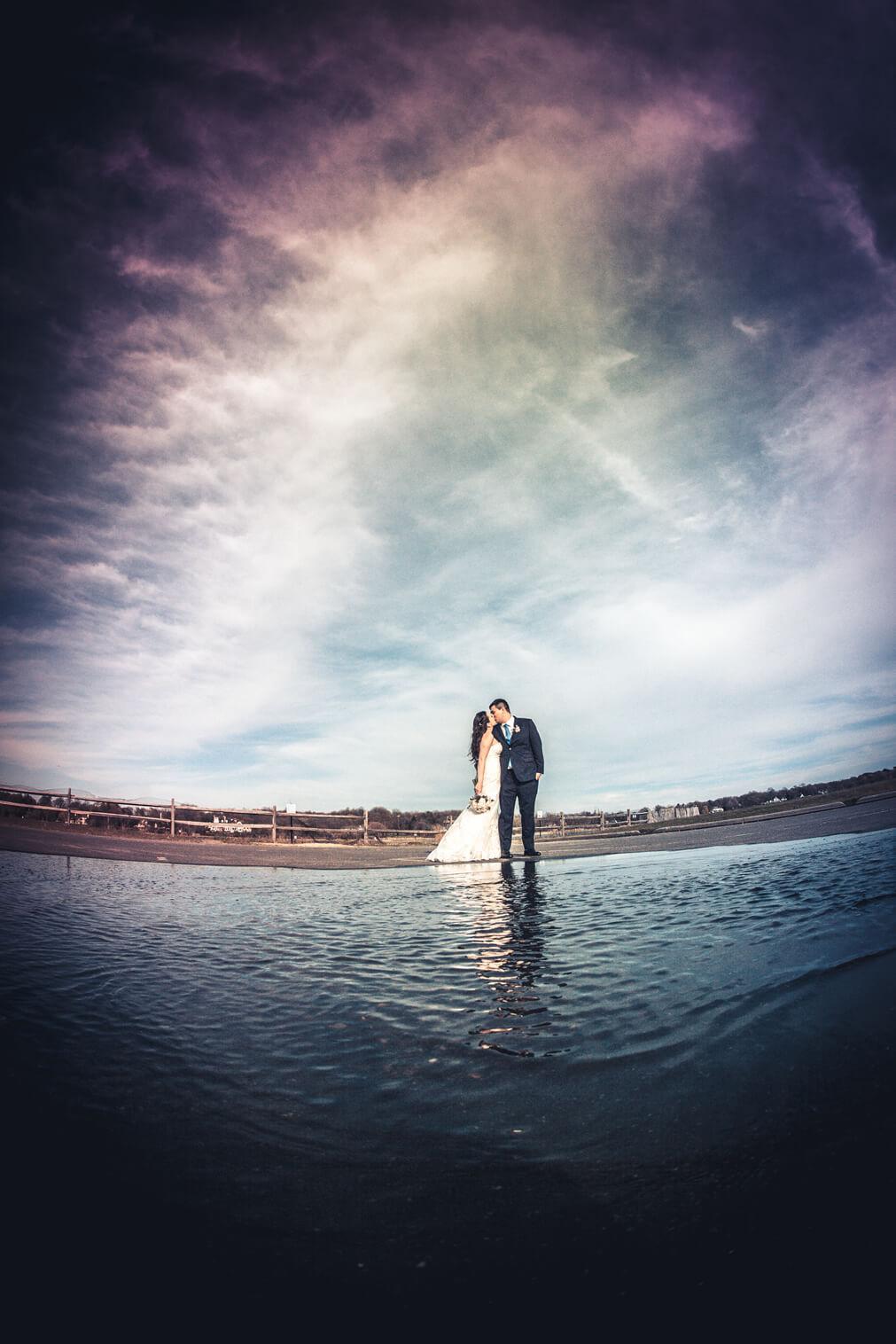 bride and groom on Beach Crescent Beach Club (4)
