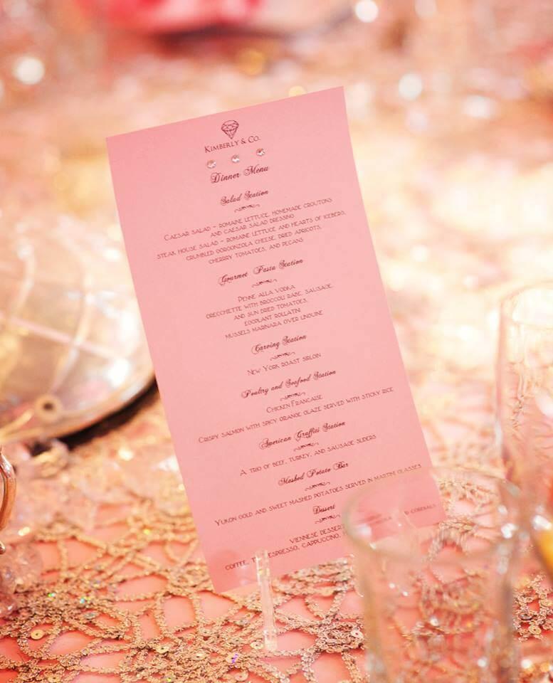 menu at Flowerfield