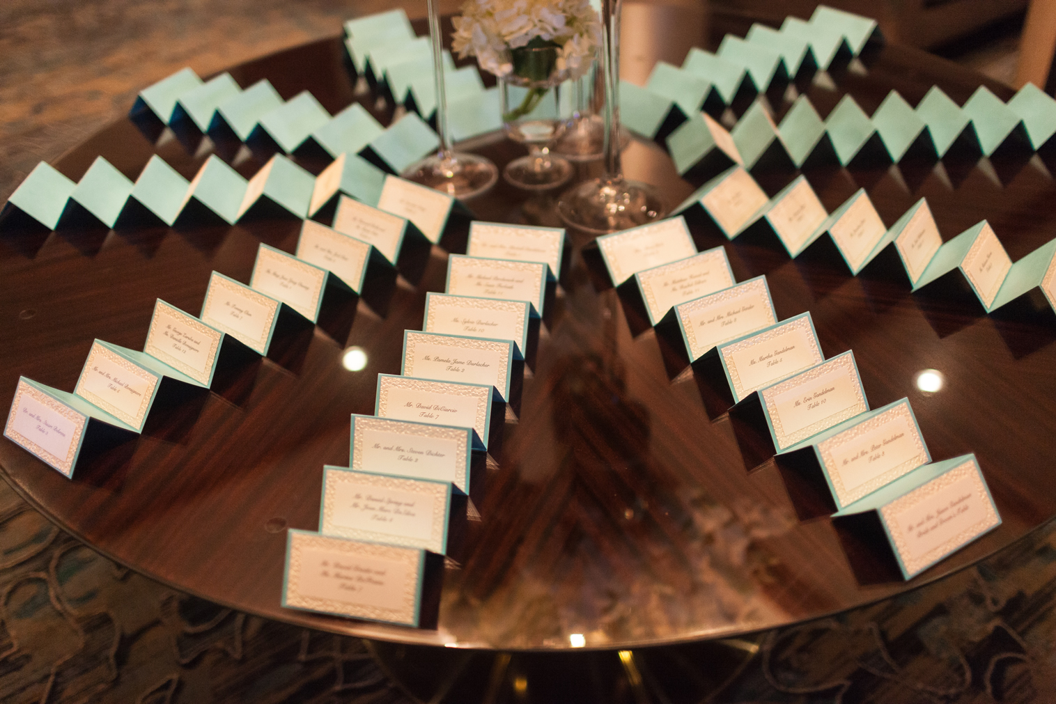 seating cards fanned out crescent beach club